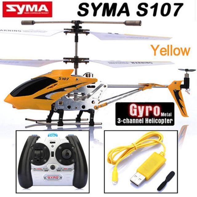 Горячие Продажа Syma S107g 3.5 Канала Мини Крытый Co-Axial Металлический Вертолет встроенный Гироскоп