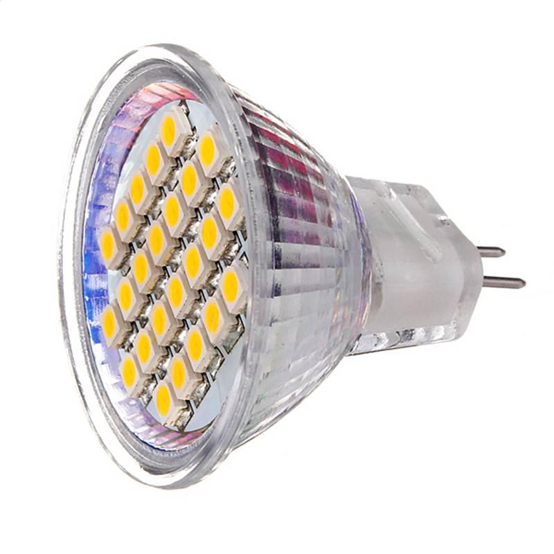 Lowest Price MR11 24 SMD 3528 1210 LED Energy Saving Spotlight Warm White Pure White Lights Bulb Lamp AC/DC12V