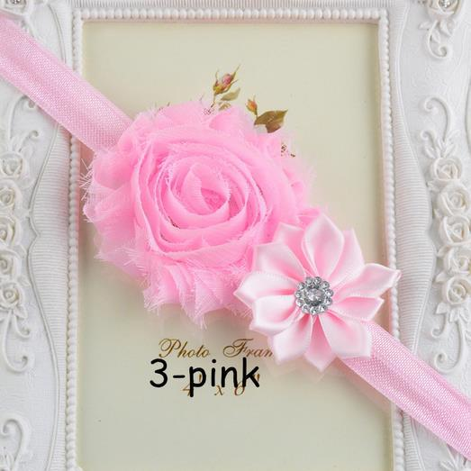New Hot Sale Candy Floral Headband Baby Girls Chiffon Flower Hairband with Diamond Infant Hairwrap Tiara Headwear(China (Mainland))