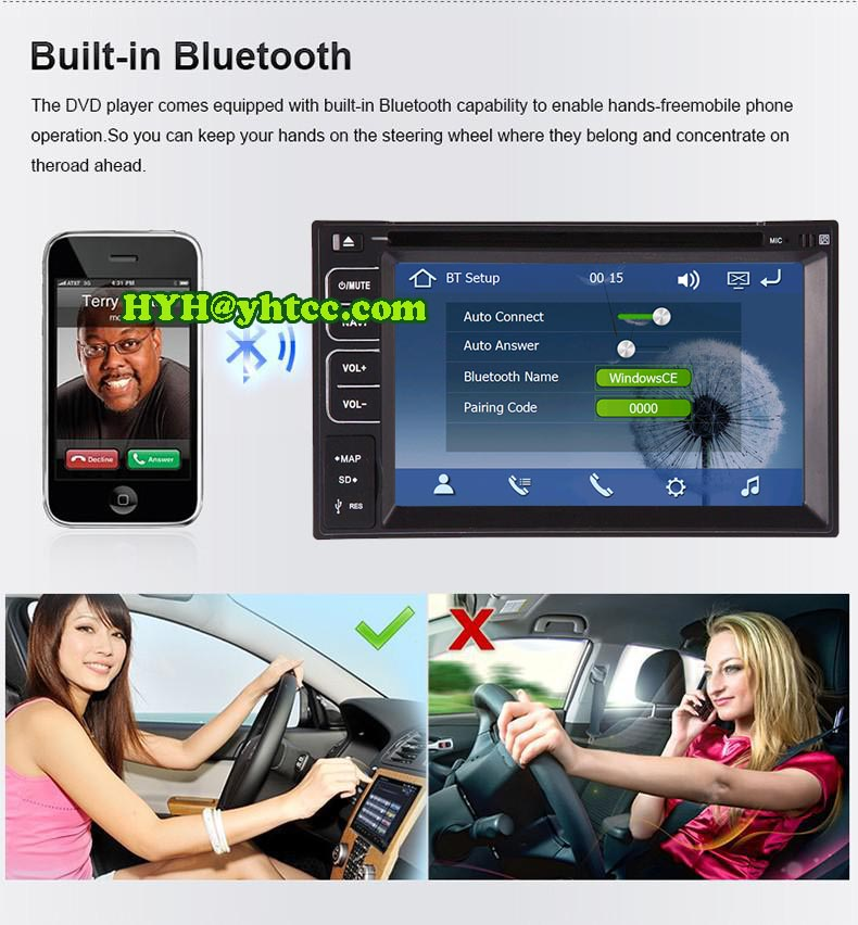 In dash GPS Navigation Double 2 Din Car PC Radio RDS USB Audio 2din New universal Car Stereo TV +Rear Camera +Free Map(China (Mainland))