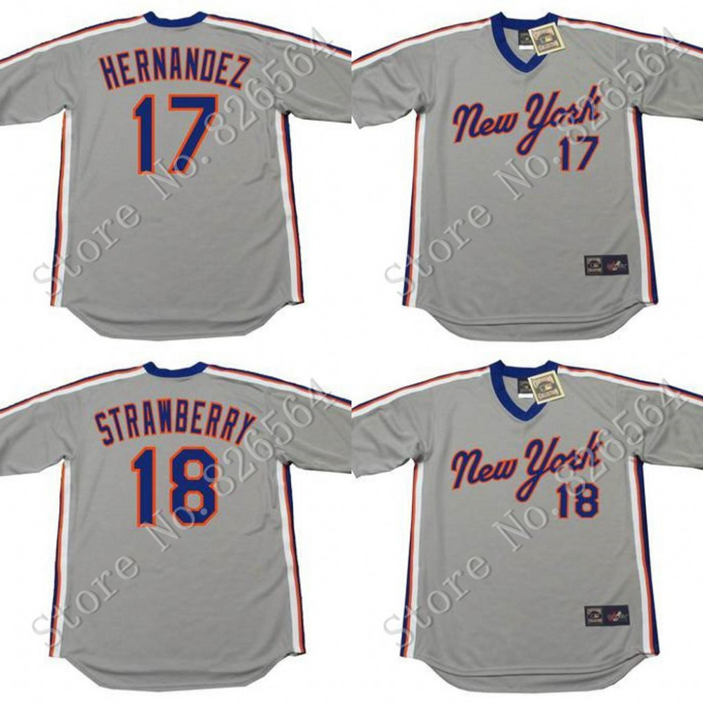 1987 mets jersey 17 KEITH HERNANDEZ  jersey New York Mets Throwback Home 18 DARRYL STRAWBERRY Baseball Jersey Stitched S-4XL<br><br>Aliexpress