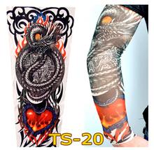 Flexible Tattoo Sleeves Long Sleeve Arm Warmers Temporary Tattoo Sticker Arm Sleeves Outdoor Cuff seam tattoo sleeve 1pc(China (Mainland))
