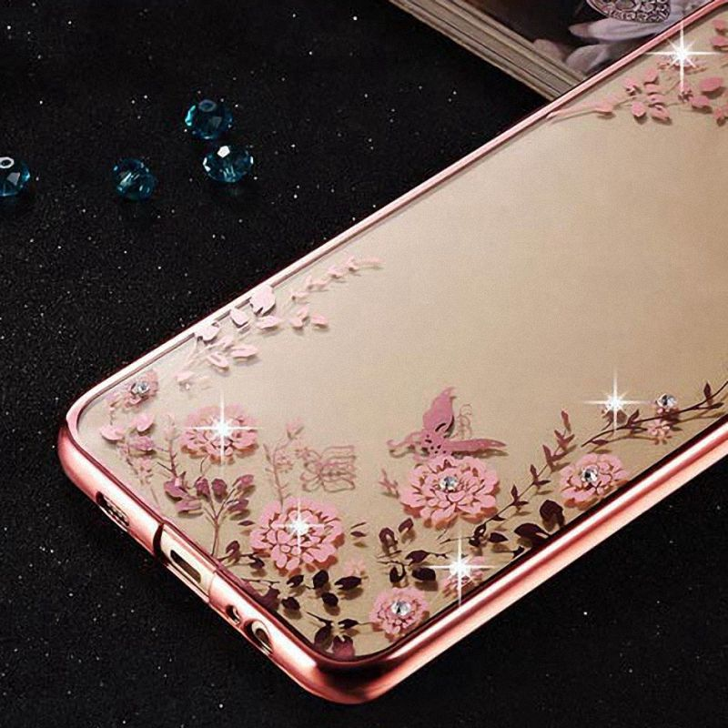 Pretty Rhinestone Case for iPhone 6s Cover 6 Plus, TPU Silicone Luxury Back Cover for Apple iPhone6 Plus Phone Bag Case Coque(China (Mainland))