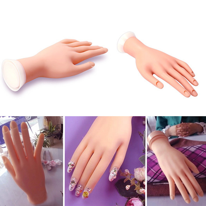 Beauty Nail Art Machine Tools For Soft Practice Hand Flexible Silicone Prosthetic Hand Manicure Tool(China (Mainland))