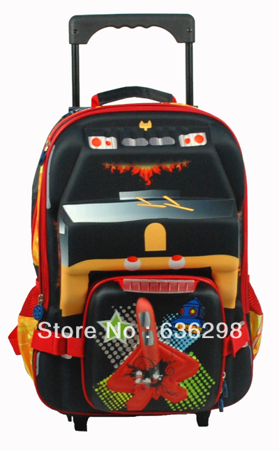 3d pattern pick-up car child three-dimensional primary school students trolley bag - Tourmate Outdoors CO;LTD store