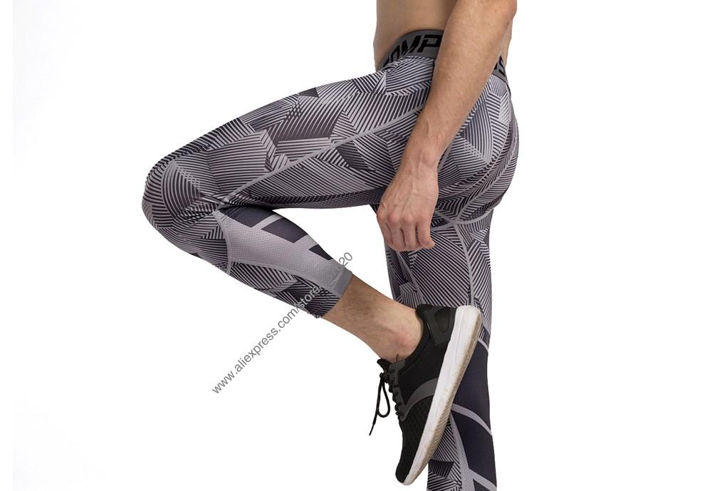 Vansydical Geometric Skinny Sport Yogo Fight Shorts for Men (12)