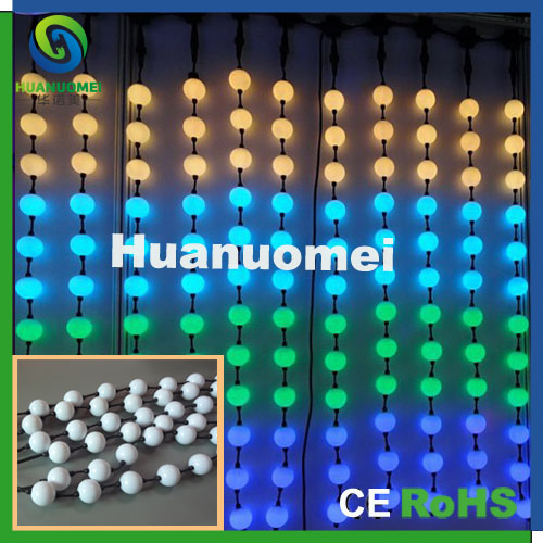 holiday /party/stage decoration hanging led ball light 50mm, RGB christmas balls string 100pcs/pack  -  Shenzhen Huanuo Mei Technology Co., Ltd. store