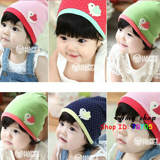 wholesale hot baby cartoon chicken baby towel cloth hat dot hat baby cap children cap 10 PCS/Lot 4 color baby hat children hat