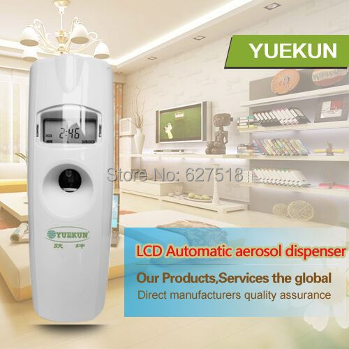 Free Shipping Wall Mounted LCD Timer Automatic Aerosol Dispenser Perfume Spray Machine LCD Air Freshener Home Machine(China (Mainland))