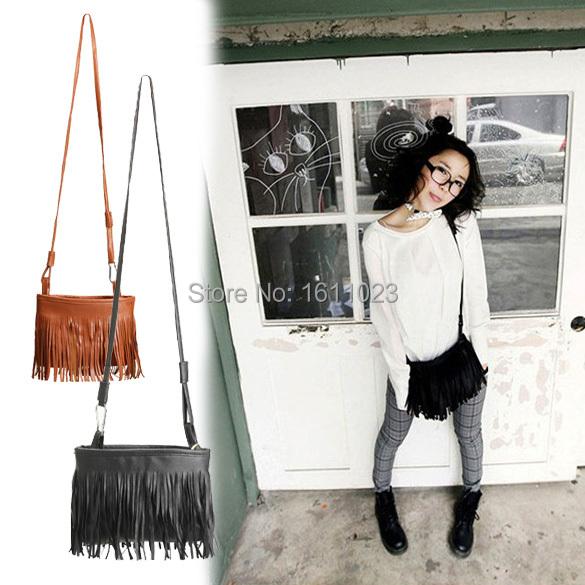 Гаджет  Fashion New Women Girls Tassel Cross Body Shoulder Bag Clutch Messenger Satchel PU Leather  E2shopping None Камера и Сумки
