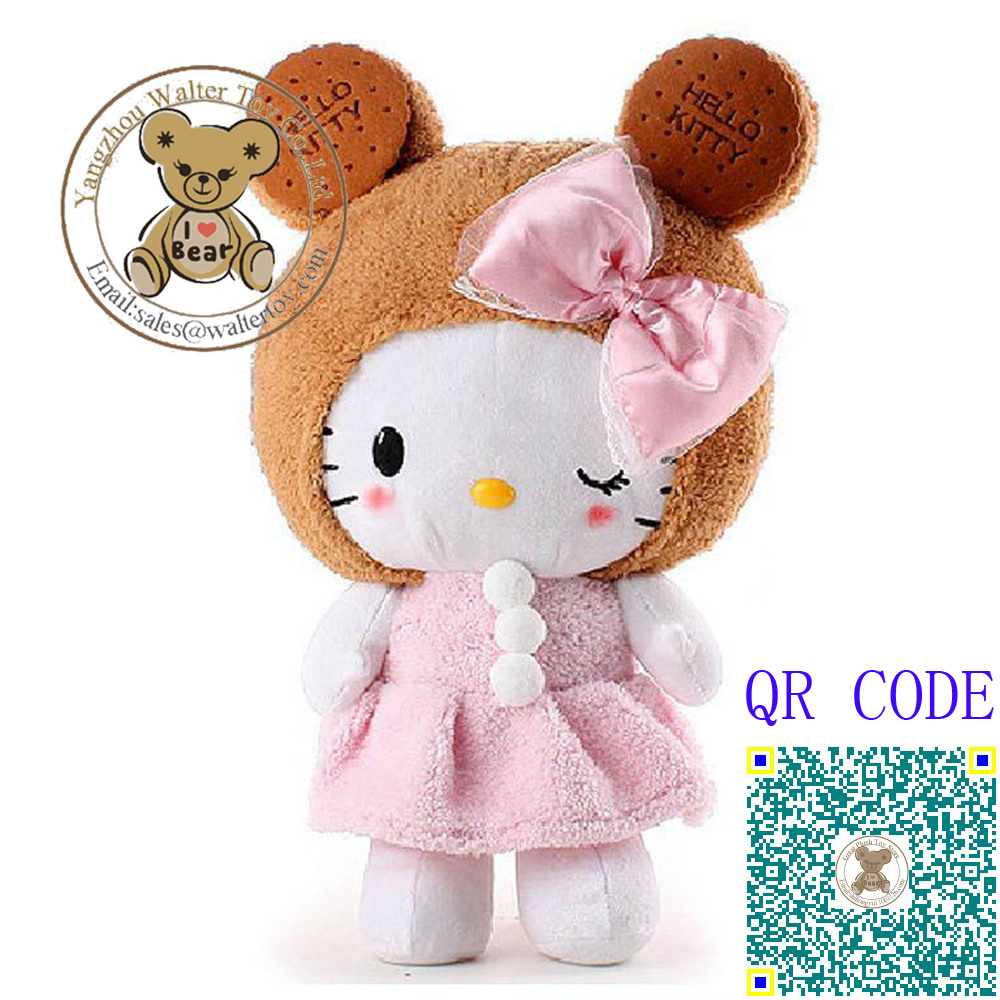 High Quality HELLO KITTY 45cm Biscuit Kitty Plush Toy & Stuffed Doll, Toys & Hobbies, Dolls & Stuffed Toys For Birthday Gift(China (Mainland))