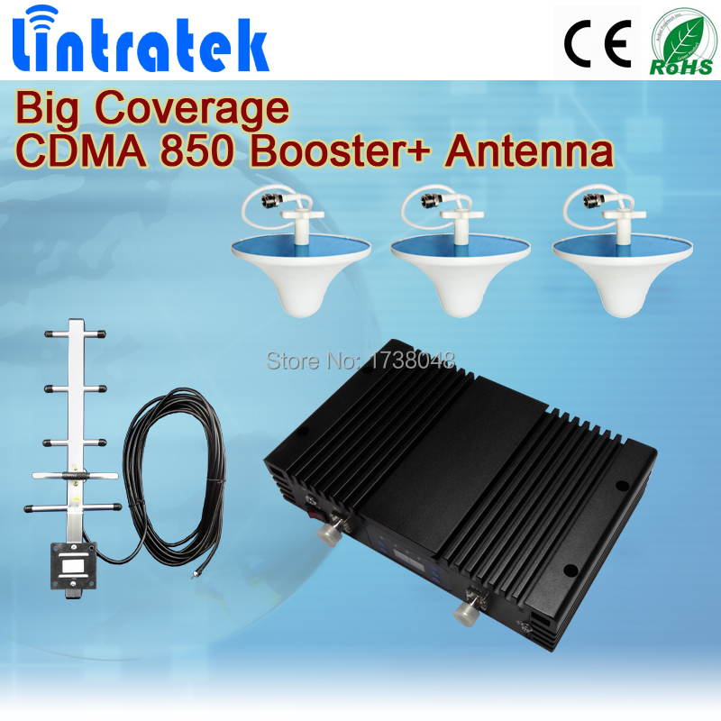 2G CDMA 850MHz domestic cellphone repeaters signal Booster amplifier mobile signal receiver+yagi antenna+indoor antenna(China (Mainland))