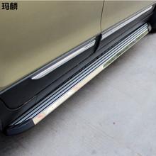 Car Styling Silver Aluminiium Alloy Sill Plate Auto Running Board For Hyunday Santa Fe/IX45 2013 2014 2015 Side Step Bar