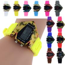 Innovadores mujeres deslumbrar a prueba de agua color militar caza furtivo en forma de luz LED Watch