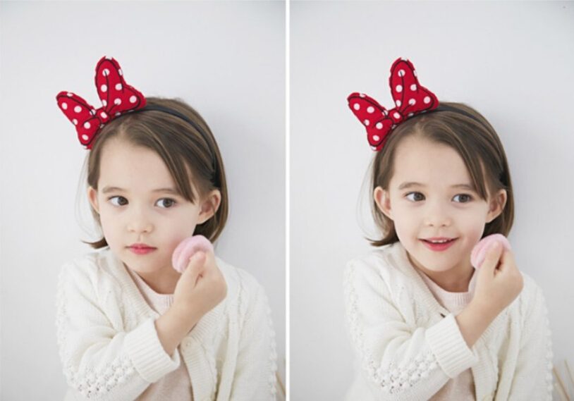2015 Mickey Minnie Mouse headband Children party Minnie Mouse Ears Baby Hair Accessories Bow kid birthday Girl Headwear(China (Mainland))