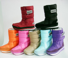 Free shipping new design Rubber duck waterproof snow boots jogging women shoes multicolor 7 colors(China (Mainland))