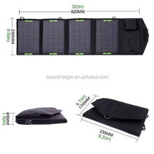 14W 18V Dual Output Waterproof Outdoor portable Folding Solar Panel Charger, USB 5V Device Charger(China (Mainland))