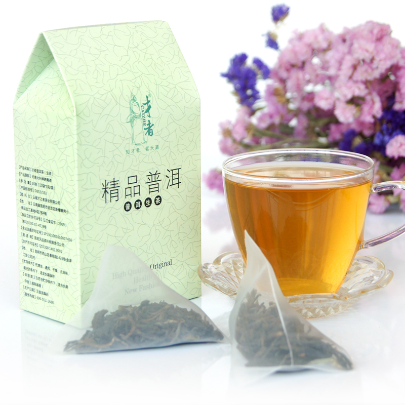 Three-dimensional triangle package tea bags exquisite 10 boxed PU er tea health tea(China (Mainland))