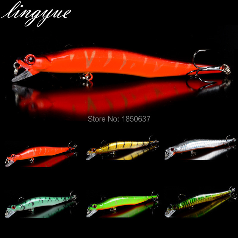 5 colors 10 cm 12 g Fishing Lure Minnow Hard Bait with 2 Fishing Hooks Fishing Tackle Lure 3D Eyes Free Shipping