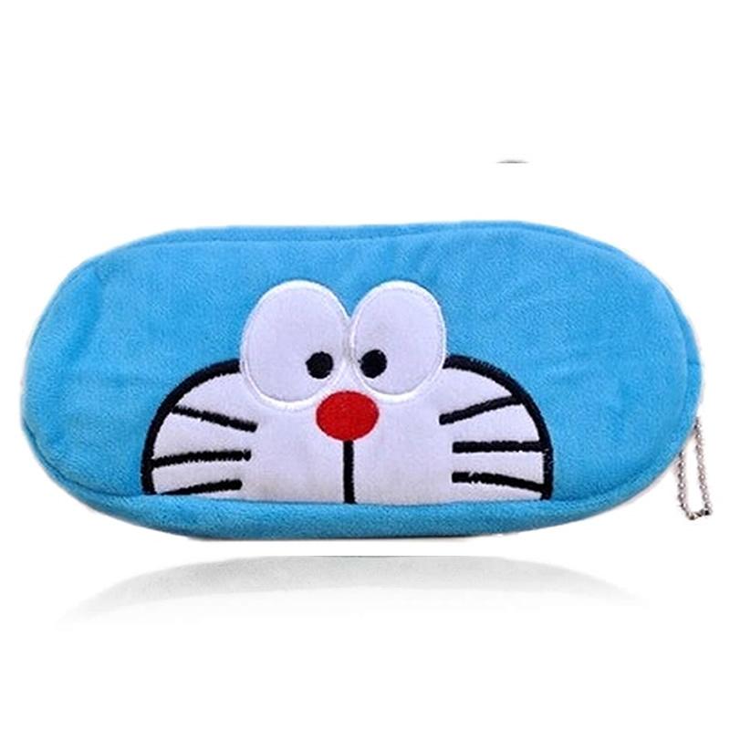 Cute Cartoon Plush Doraemon Pencil Bag Zip Pens Pouch Pencil Case Estuches School Supplies For Girls Children Gift(China (Mainland))