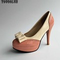 Bowknot High Heels 10 5cm Sexy Women Thin Heel Pumps Elegant Ladies Round toe Platform Shoes