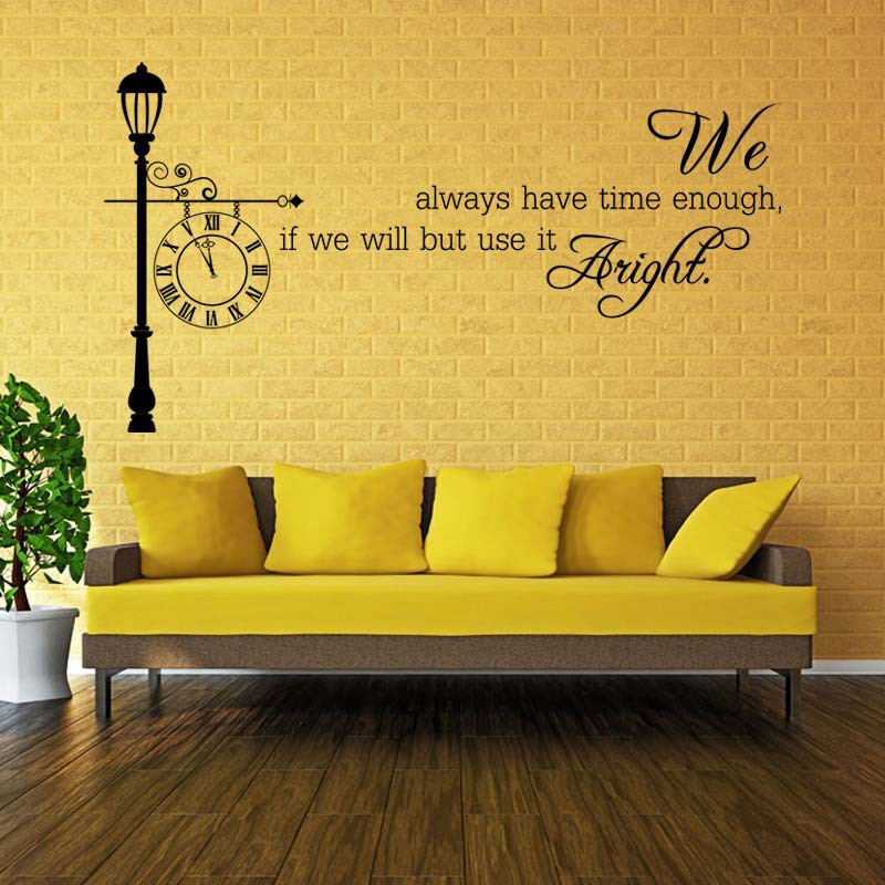 product English\ We have time\ new living room bedroom wall stickers decorative sticker wholesale custom para casa