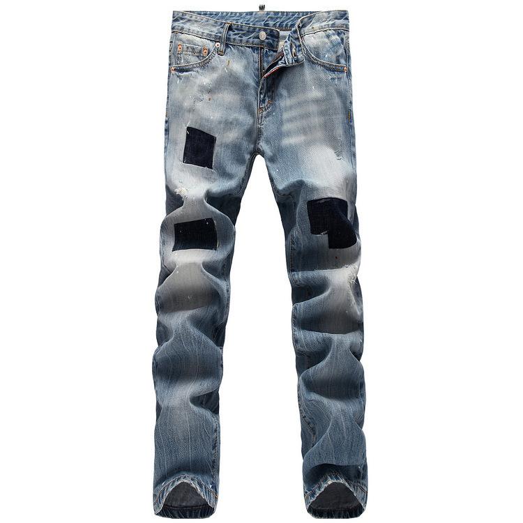Calças de brim dos homens tendência do comércio coreano macacão jeans para homens atacado luz de cor patch(China (Mainland))