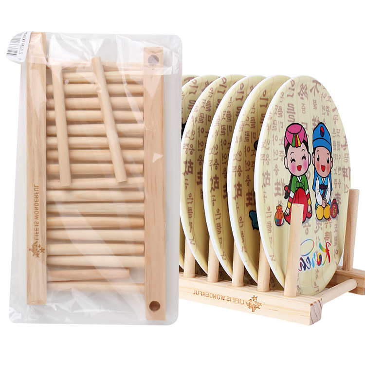 Useful Bamboo Solid Storage Holder CD Rack For Dishes Kitchen Drain Basket Shelves Storage shelf CD Shelf(China (Mainland))