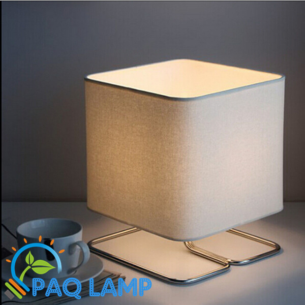 Modern table lamp simple led light Cloth lamp shade bed room Office table lamp(China (Mainland))