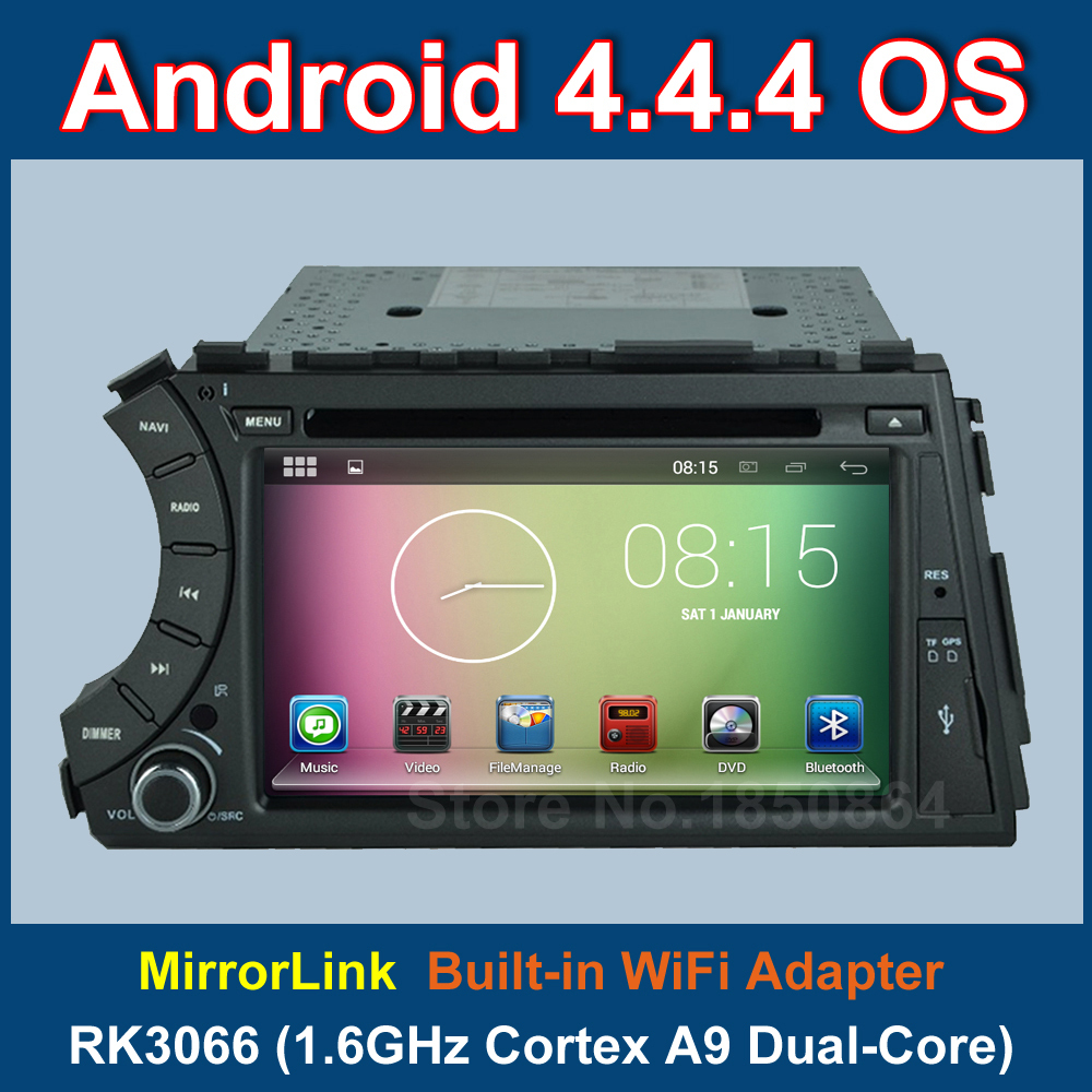 Android 4.4.4 Car DVD Player for SsangYong Kyron Actyon 2006 2007 2008 2009 2010 2011 2012 with Radio GPS BT WiFi 3G MirrorLink(China (Mainland))