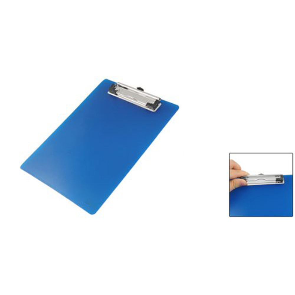 GSFY! Office School Spring Loaded A5 Paper Holding File Clamp Clip Board Blue(China (Mainland))