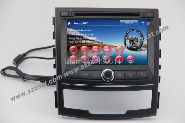 Free Shipping!! ZESTECH China Factory 2 Din Touch screen dvd gps central multimedia navigation for Ssang Yong Korando(China (Mainland))