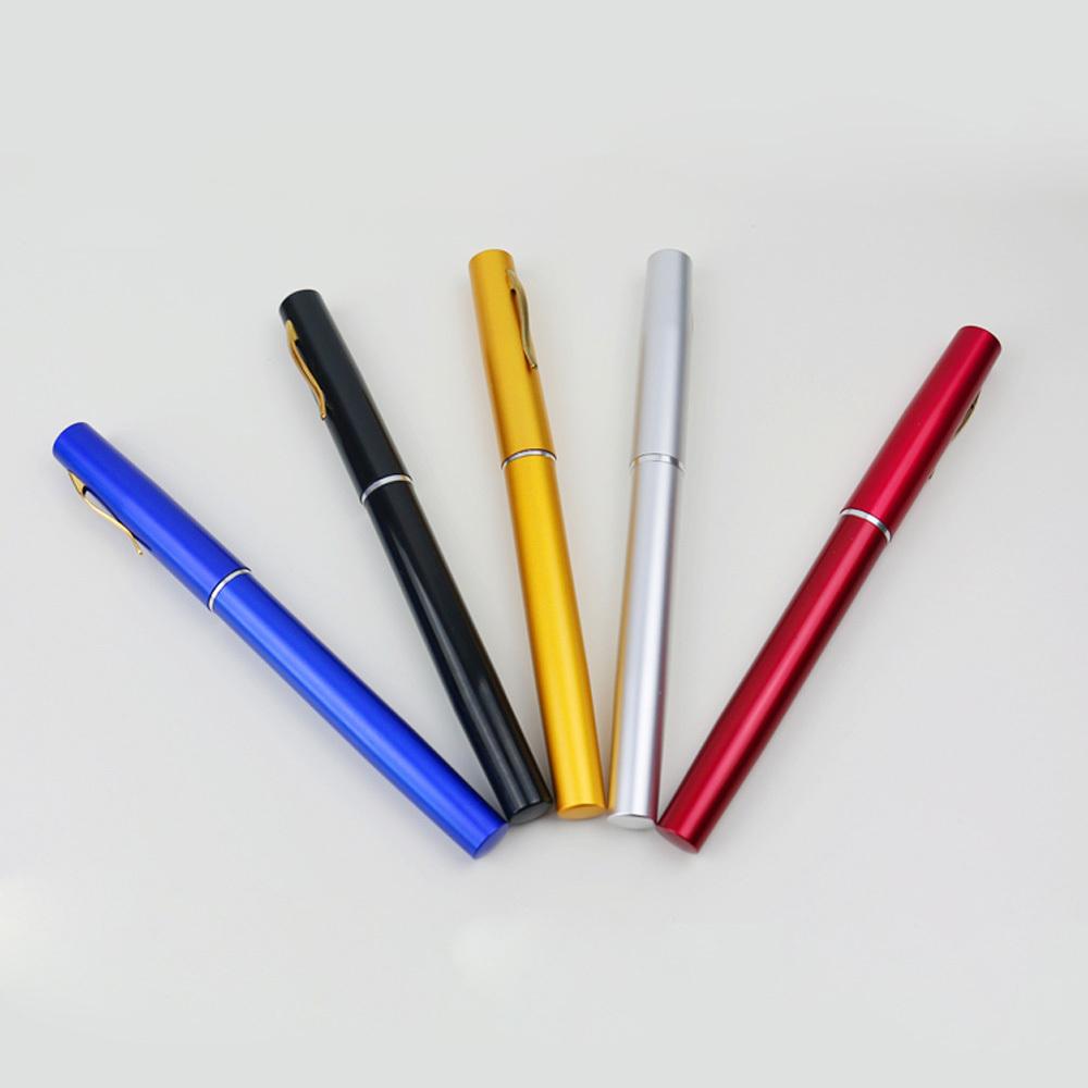 Mini Portable Pocket Aluminum Alloy Fishing Rod Pen Shape Pole Fish Reel Line Soft Bait Hook