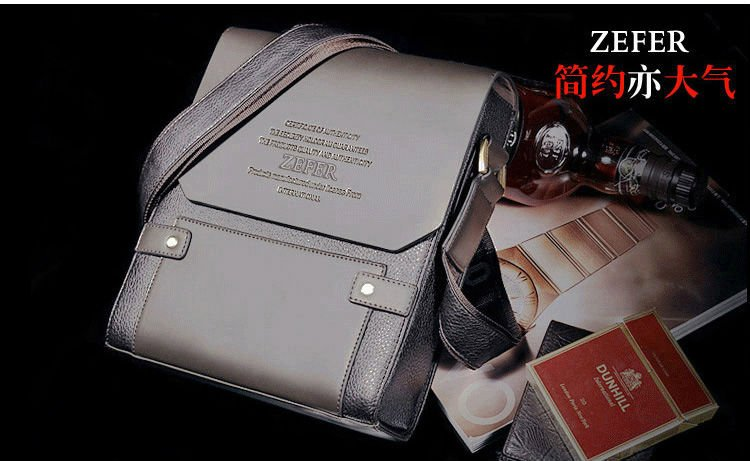 new arrival fashion genuine leather messenger bag, Brown color mens shoulder bags 2012, high quality brand design business bag<br><br>Aliexpress