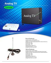 factory wholesale one Antenna black Car Analog Mobile TV Box for Turkey Indonesia India other countries 2pcs/lot ES-P010(China (Mainland))