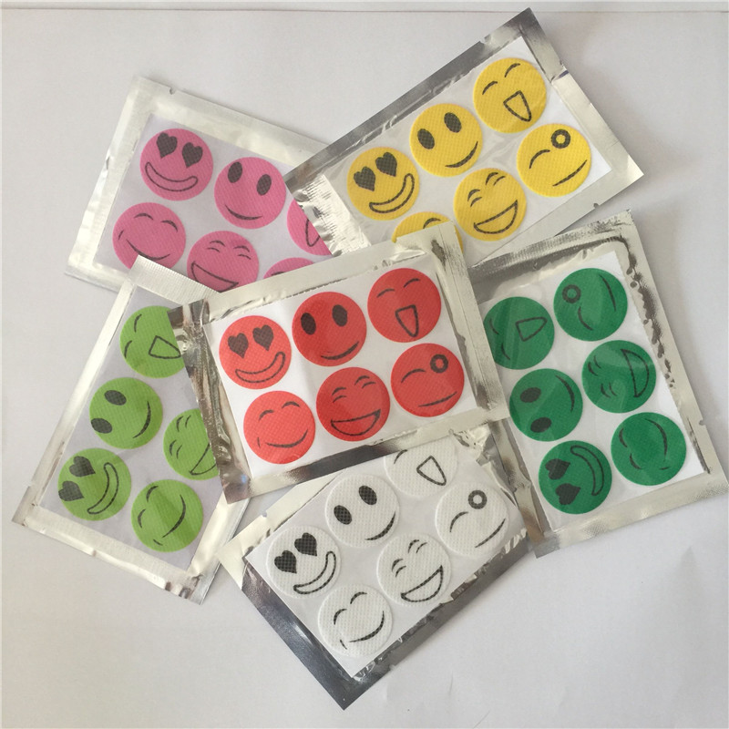2016 Mosquito repeller wholesale smile anti Mosquito Repellent Sticker Repeller Patch Natural Essential Oil mat 1200PCS/pack(China (Mainland))