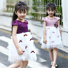 Buy 2017 Kids Dresses Girls Ball Gowns Puff Sleeve Princess Party Dresses Girls Tulle Wedding Dress 2 4 6 8 10 12 Years Vestidos for $15.83 in AliExpress store