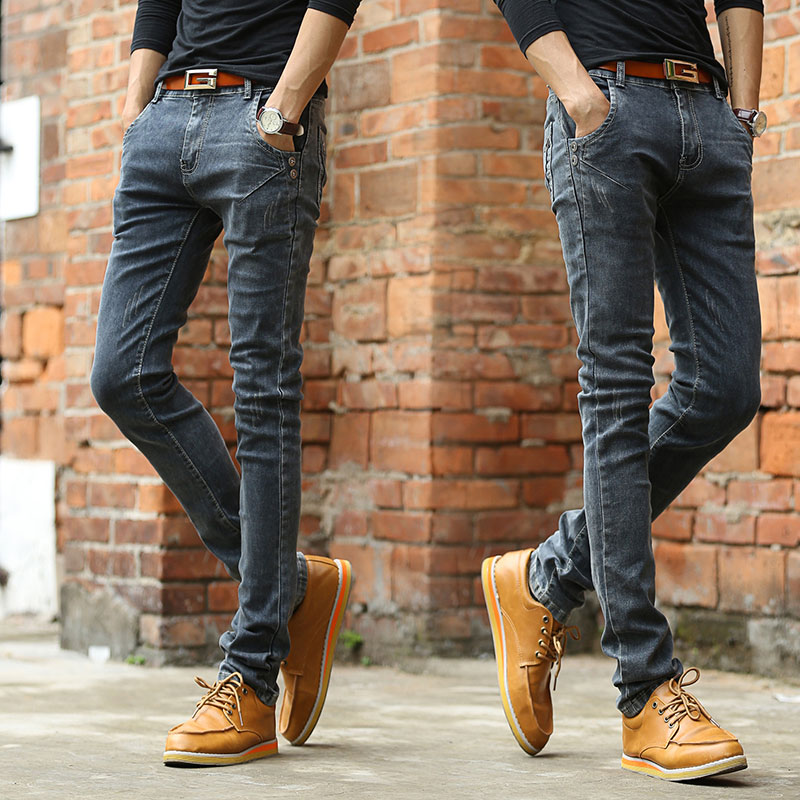 New Men Straight Canister Leisure Men's Clothing of Cultivate One's Morality Jeans In Figure 2(China (Mainland))