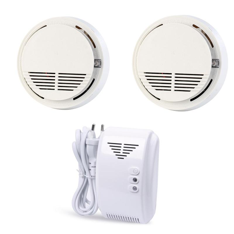 Smoke Alarm Wireless Fire Detector Natural Gas Leak Detector Sensor 433MHz King Pigeon GSM Security Alarm System SM-100/GL-100A