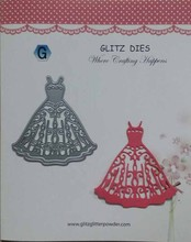 scrapbook lady dress metal die cutting dies in scrapbooking die cuts embossing folder free shipping(China (Mainland))