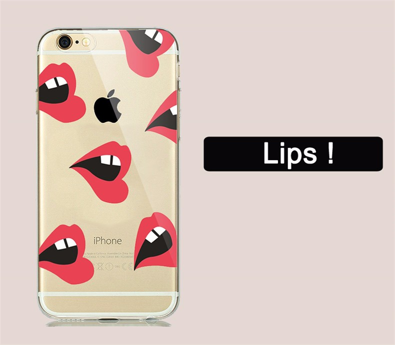 Fashion Ultra-thin Soft TPU Case Fundas For Apple iPhone 5 5S 6 6S 6s plus Fruit Banana Cactus Phone Cases Cover Skin Shell