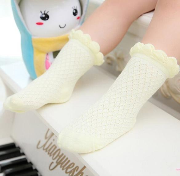 Дешевые милый ребенок малыша дети девушки парни кружева сетки мягкий хлопок носки