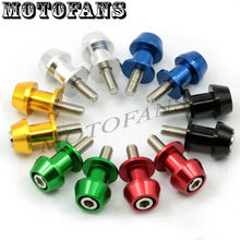Motofans – 8MM Motorcycle Racers CNC Billet Swingarm Swing Arm Spools Slider Stand Screws for Triumph Daytona 675 2011 2012 2013
