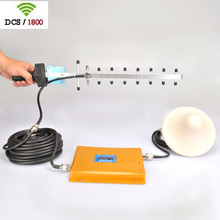 DCS 1800Mhz cellphone Signal booster Gain 65db out door 9 element Yagi antenna Antenna 10 meter cable indoor ceiling Antenna(China (Mainland))