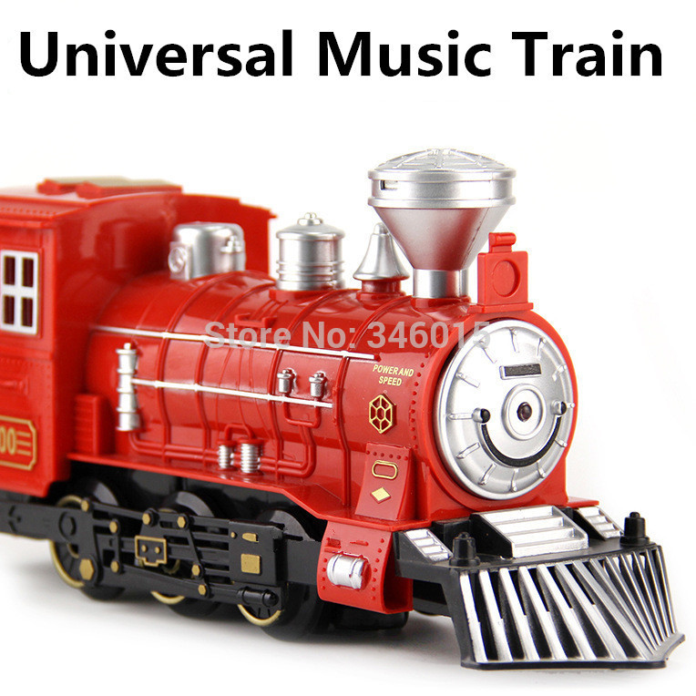 Simulation Train Universal electric toy, Thomas train toys, musical light-emitting locomotive, retail, wholesale, free shipping(China (Mainland))