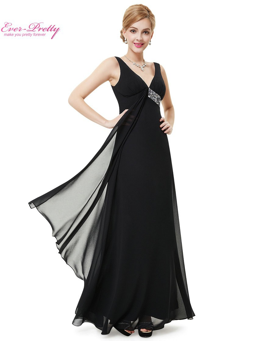 Long Party Dress Ever Pretty HE09981 V neck Flowy Ribbon Sequined Waist 2016 Summer Style Fast