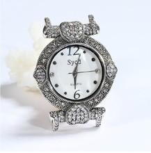 Auténtica plata de ley 925, plata tailandesa que restaura maneras antiguas ms reloj de lujo, reloj de cuarzo