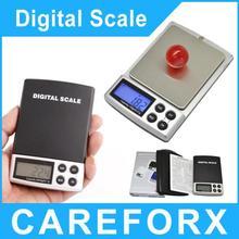 Envío gratis! Micro balanzas electrónicas 500 g / 0.1 g portátil Mini escala de bolsillo joyería oro palma escalas de medición escala