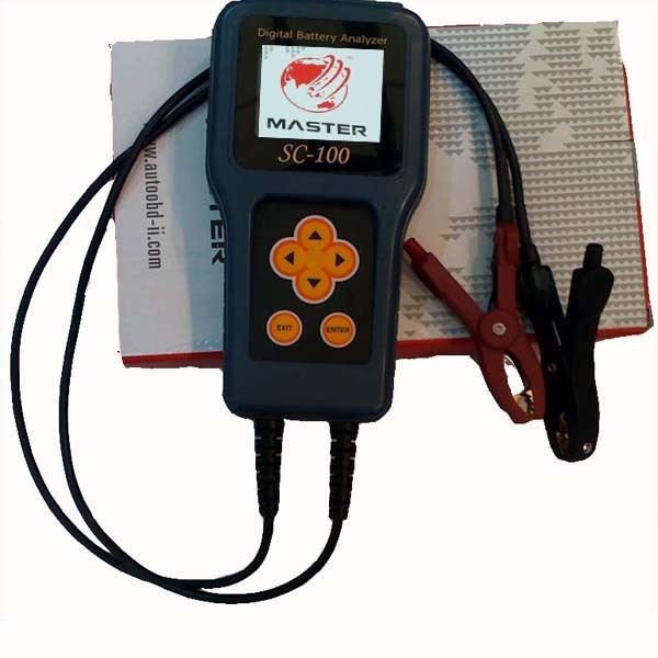 New MST-8000+ Auto Digital Battery Tester Handheld With LCD Copper Clips Battery Analyzer For All 12V Cars