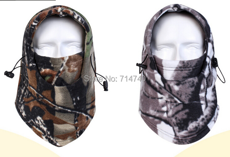 Winter Thermal Camo Camouflage Warm Fleece Balaclava Motorcycle Hunting Wind Ski Cap Hat Snowboard Full Face Mask Beanies - Tactical's store
